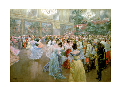 Court Ball at the Hofburg, 1900 Premium Giclee Print by Wilhelm Gause