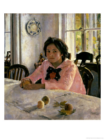 Girl with Peaches, 1887 Giclee Print by Valentin Aleksandrovich Serov