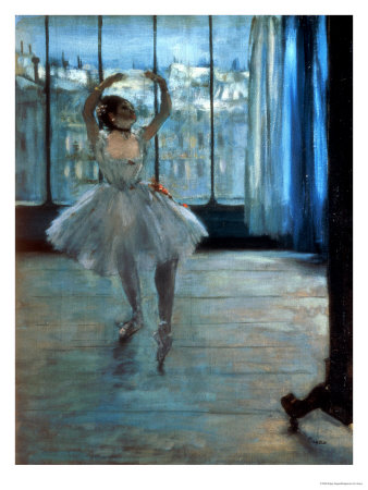 Dancer in Front of a Window (Dancer at the Photographer's Studio) circa 1874-77 Gicleetryck