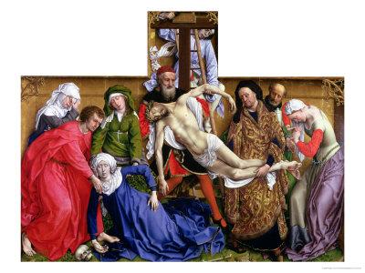 Descent from the Cross, circa 1435 Giclée-tryk af Rogier van der Weyden