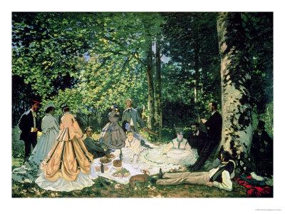 Le Dejeuner Sur L'Herbe, 1866 Premium Giclee Print by Claude Monet