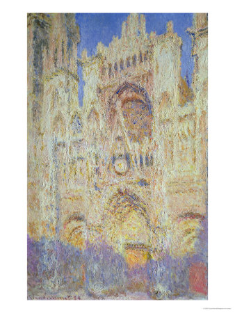 Rouen Cathedral at Sunset, 1894 Premium Giclee Print by Claude Monet