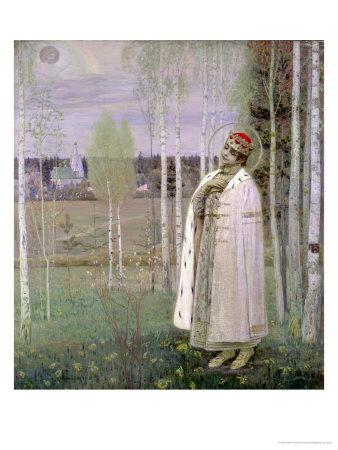 Tsarevich Dimitry, Son of the Assassinated Tsar Nicholas Premium Giclee Print by Mikhail Vasilievich Nesterov