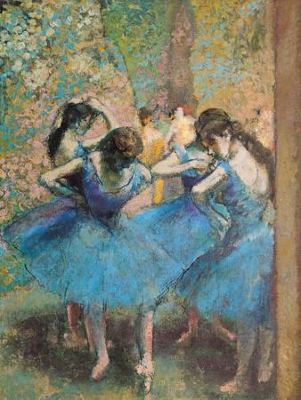 De blå dansere, ca. 1895 Giclée-tryk