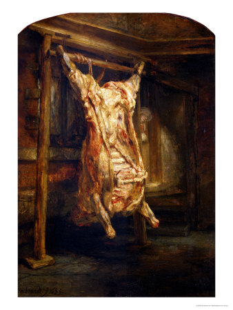 The Slaughtered Ox, 1655 Premium Giclee Print by  Rembrandt van Rijn