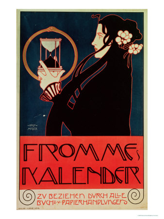 Design for the Frommes Calendar, for the 14th Exhibition of the Vienna Secession, 1902 Premium Giclee Print by Koloman Moser