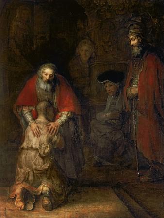 Pişman olan Oğlun Dönüşü, 1668-69 Giclee Baskı