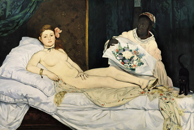 Olympia, 1863 Premium Giclee Print by Édouard Manet