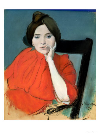 Portrait of a Woman, 1890 Premium Giclee Print by Louis Anquetin