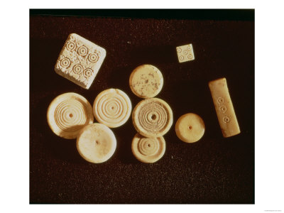Counters and Dice, Gallo-Roman, Second Half of First Century BC Giclee Print