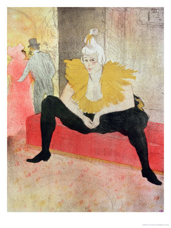 La Clowness Looks Around, Madamoiselle Cha-U-Kao Premium Giclee Print by Henri de Toulouse-Lautrec