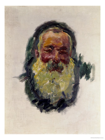 Self Portrait, 1917 Premium Giclee Print by Claude Monet