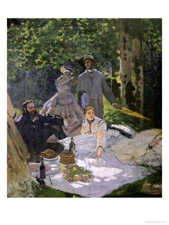 Dejeuner Sur L'Herbe, Chailly, 1865 (Central Panel) Premium Giclee Print by Claude Monet