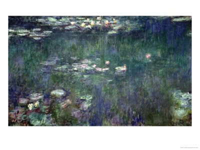 Waterlilies: Green Reflections, 1914-18 (Central Section) Premium Giclee Print by Claude Monet