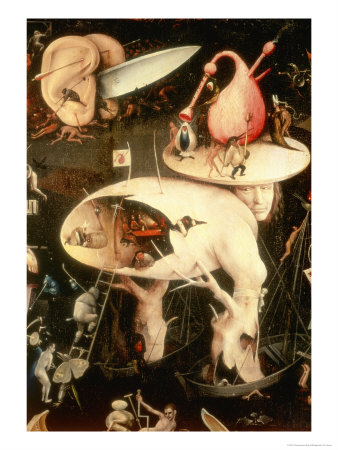 The Garden of Earthly Delights: Hell, Right Wing of Triptych, circa 1500 Giclee Print by Hieronymus Bosch