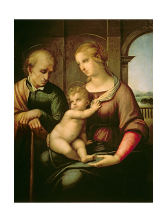 The Holy Family, 1506 Premium Giclee Print by  Raphael