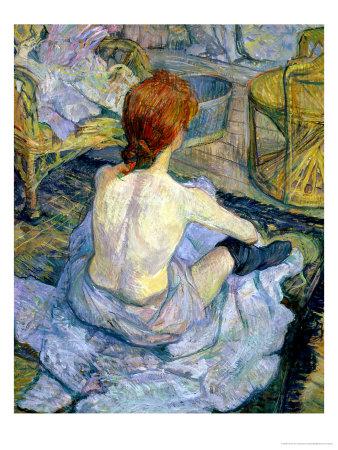 Woman at Her Toilet, 1896 Premium Giclee Print by Henri de Toulouse-Lautrec