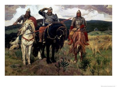 Epic Heroes Premium Giclee Print by Victor Mikhailovich Vasnetsov