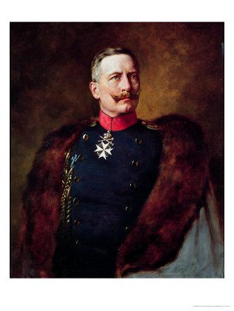 Portrait of Kaiser Wilhelm II (1859-1941) Giclée-tryk