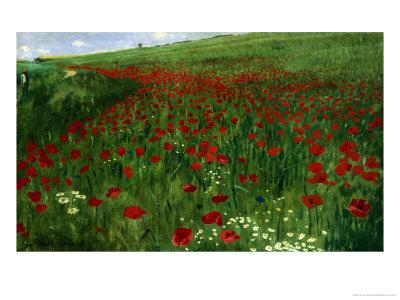 The Poppy Field, 1896 Giclée-Druck von Paul von Szinyei-Merse