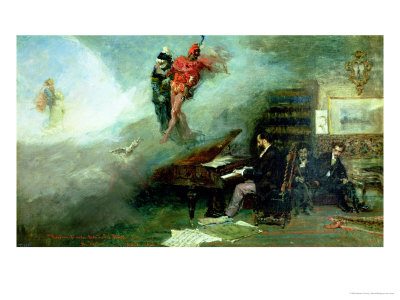 Recalling the Faust Fantasy, 1866 Premium Giclee Print by Mariano Fortuny y Marsal