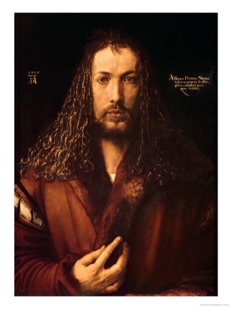 Self Portrait at the Age of Twenty-Eight, 1500 Premium Giclee Print by Albrecht Dürer