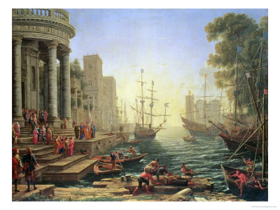 Seaport with the Embarkation of St. Ursula Premium Giclee Print by Claude Lorrain