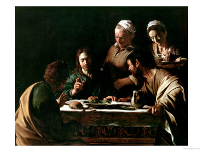 Supper at Emmaus, 1606 Premium Giclee Print by  Caravaggio