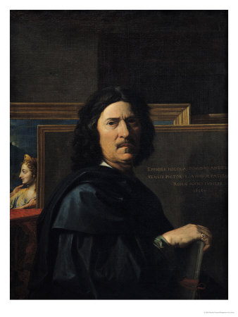 Portrait of the Artist, 1650 Premium Giclee Print by Nicolas Poussin