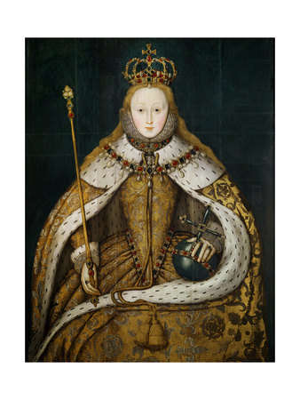 Queen Elizabeth I in Coronation Robes, circa 1559 Premium Giclee Print