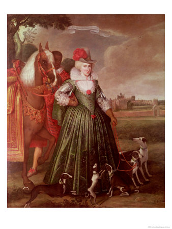 Anne of Denmark, 1617 Premium Giclee Print by Paul van Somer