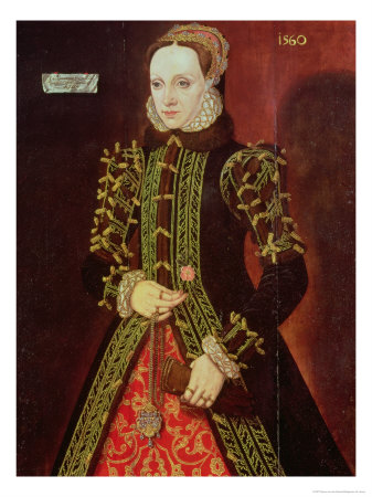 Elizabeth Fitzgerald, Countess of Lincoln, 1560 Giclee Print by Steven van der Meulen