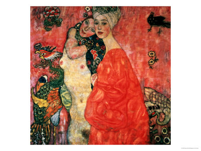 Women Friends, 1916-17 (Destroyed in 1945) Giclee Print by Gustav Klimt