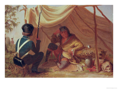Osceola in Captivity, circa 1837 Giclee Print
