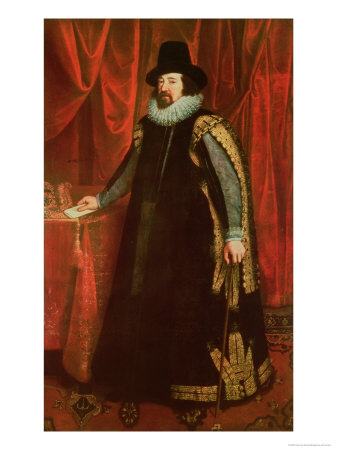 Sir Francis Bacon (1561-1626) Viscount of St. Albans Premium Giclee Print by Paul van Somer