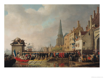 Entry of Bonaparte, as First Consul, into Antwerp on 18th July 1803, 1807 Giclee Print by Mathieu Ignace van Bree