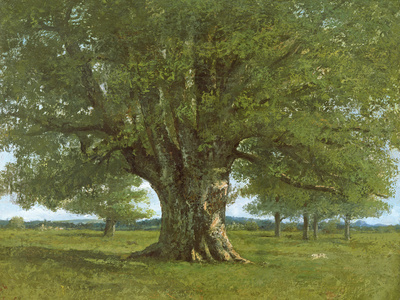 The Oak of Flagey, Called Vercingetorix Premium Giclee Print by Gustave Courbet