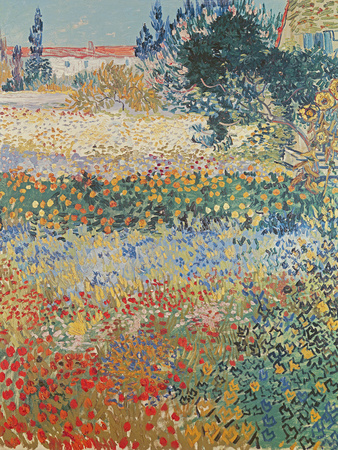 Garden in Bloom, Arles, c.1888 Lámina giclée por Vincent van Gogh