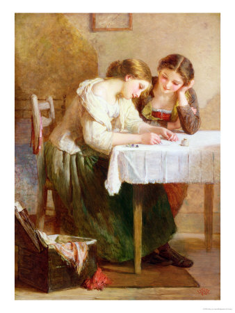 The Love Letter, 1871 Premium Giclee Print by Henry Le Jeune