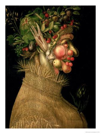 Summer, 1563 Premium Giclee Print by Giuseppe Arcimboldo