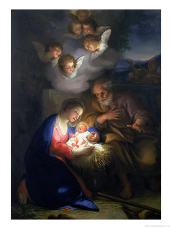 Nativity Scene Giclee Print by Anton Raphael Mengs