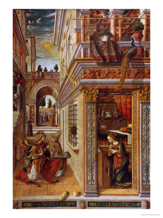 The Annunciation with St. Emidius, 1486 Premium Giclee Print by Carlo Crivelli