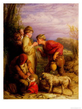 Giving a Bite Premium Giclee Print by William Mulready