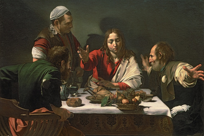 The Supper at Emmaus, 1601 Giclee Print