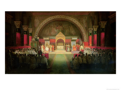The Chapter of the Order of the Templars Held at Paris, 22nd April 1147, 1844 Premium Giclee Print by Francois-Marius Granet