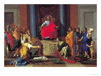 The Judgement of Solomon, 1649 Premium Giclee Print by Nicolas Poussin