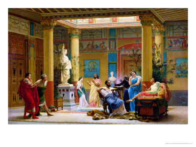 "A Performance of ""The Fluteplayer"" in the ""Roman"" House of Prince Napoleon III (1808-73) Premium Giclee Print by Gustave Clarence Rodolphe Boulanger"