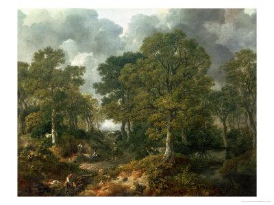 """Gainsborough's Forest (""""Cornard Wood""""), circa 1748 Premium Giclee Print by Thomas Gainsborough"""