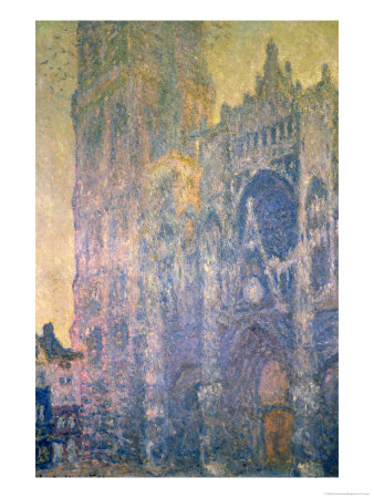Rouen Cathedral, Harmony in White, Morning Light, 1894 Premium Giclee Print by Claude Monet