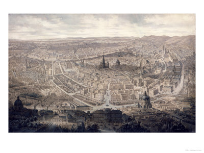 View of Vienna, circa 1860 Premium Giclee Print by G. Veitto